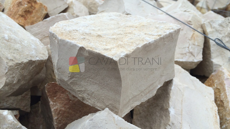 Cubetti tranciati in Pietra di Trani