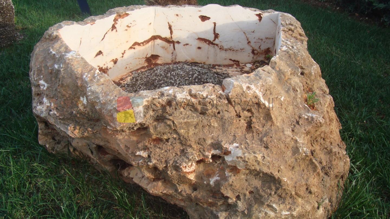 Vasca grezza in Pietra di Trani